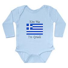Kiss Me Im Greek Body Suit