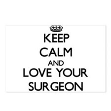Keep Calm and Love your Surgeon Postcards (Package