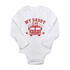 My Daddy Is My Hero Fi Long Sleeve Infant Bodysuit