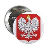 Button - Poland National Shield - White Eagle