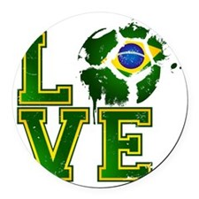 Love Brazilian Football! Round Car Magnet