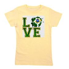 Love Brazilian Football! Girl's Tee