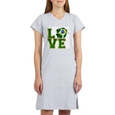 Love Brazilian Football! Women's Nightshirt