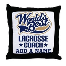 Personalized Lacrosse Coach Gift Throw Pillow
