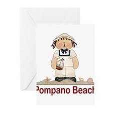 Pompano Beach Greeting Cards (Pk of 10)