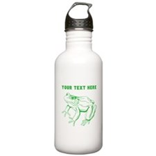 Custom Green Frog Water Bottle