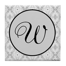 Sterling Script Monogram Tile Coaster