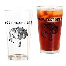 Custom Arctic Wolf Drinking Glass