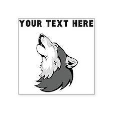 Custom Wolf Howling Sticker