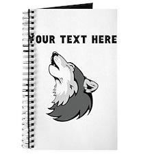 Custom Wolf Howling Journal