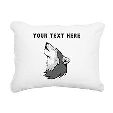 Custom Wolf Howling Rectangular Canvas Pillow