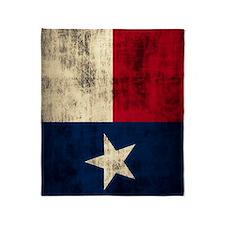Grunge Flag of Texas Throw Blanket
