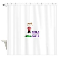 Girls With Goals Shower Curtain