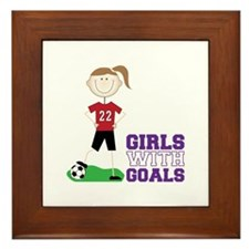Girls With Goals Framed Tile