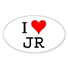 I Love JR Oval Decal