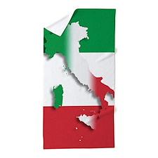 Italy Italian Flag Beach Towel