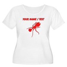 Custom Red Carpenter Ant Plus Size T-Shirt