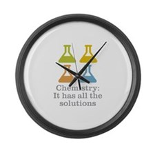 Chemistry Solutions Large Wall Clock