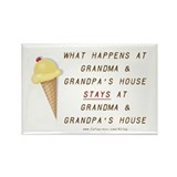 Grandma &amp; Grandpa's Rectangle Magnet