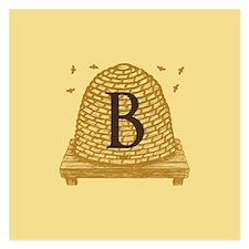 MONOGRAM Bee Hive Invitations