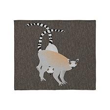 Lemurs Throw Blanket