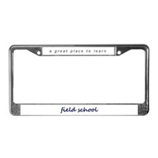 Field School License Plate Frame