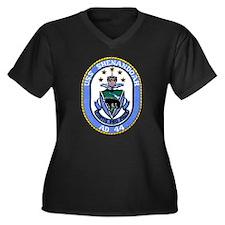 USS SHENANDO Women's Plus Size V-Neck Dark T-Shirt