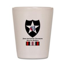 2nd ID Afghanistan Shot Glass