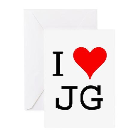 I Love JG Greeting Cards (Pk of 10)
