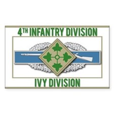 4th ID Ivy Division CIB Decal