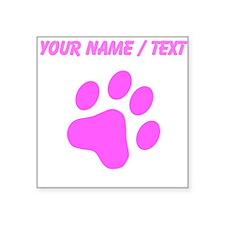 Custom Pink Cat Paw Print Sticker