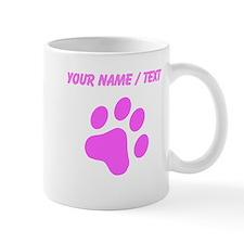 Custom Pink Cat Paw Print Mugs