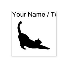 Custom Cat Stretching Sticker
