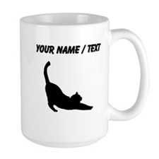 Custom Cat Stretching Mugs