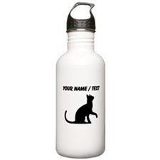 Custom Cat Sitting Water Bottle