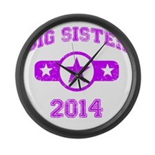 Big Sister 2014 Large Wall Clock