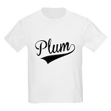 Plum, Retro, T-Shirt