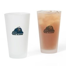 Mountain Biking Colorado Drinking Glass