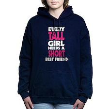 (TALL GIRL - SHORT GIRL) BFF Women's Hooded Sweats