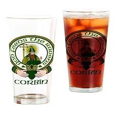 Corbin Clan Motto Drinking Glass