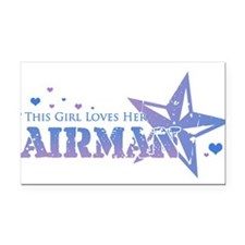 Cute Airforce sweetheart Rectangle Car Magnet