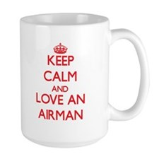 Keep Calm and Love an Airman Mugs