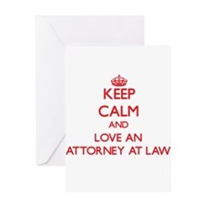 Keep Calm and Love an Attorney At Law Greeting Car