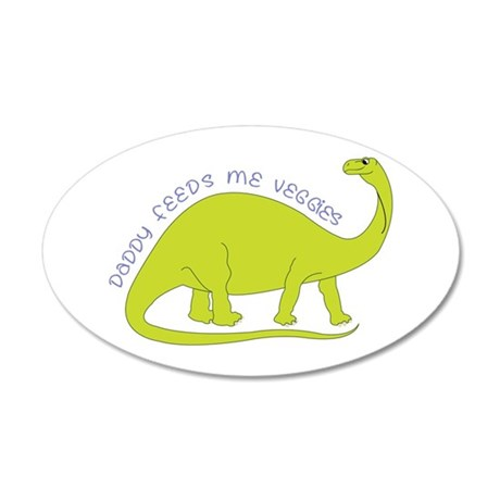 Daddy Feeds Me Veggies Wall Decal