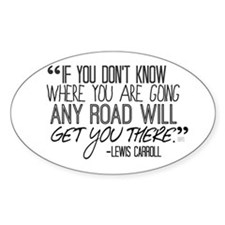 Any Road Lewis Carroll Decal