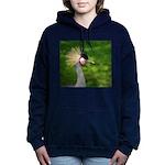 Grey Crowned Crane Women's Hooded Sweatshirt