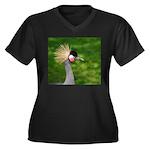 Grey Crowned Crane Plus Size T-Shirt