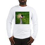 Grey Crowned Crane Long Sleeve T-Shirt
