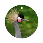 Grey Crowned Crane Ornament (Round)