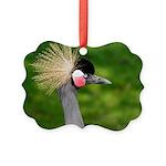 Grey Crowned Crane Ornament